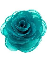 Merida - adorable broches de pelo para mujeres, de flores de seda, accesorios para el pelo, broches rosa