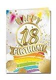"""bentino XXL Grußkarte A4""""18er Geburtstag"""", Pustekarte mit Sound, Kerze auspusten, spielt""""Happy"""", Serie GREAT CARDS, hochwertige Karte mit Umschlag"""