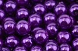 Purple Glass Pearl Round 10mm - approx 44 beads