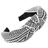 Dorical Haarband Yoga Headband Hairband Damen Stoff Haarreif mit Schleife-Vintage-Wunderschön Stirnband,Haarschmuck Haarreif mit Schleife-Vintage-Wunderschön Stirnband (One Size, Z008-Schwarz)