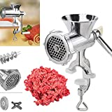 Picadora de carne, Woopower Meat Mincer Heavy Duty Grinder Cocina manual de mano Beef Sausage Maker