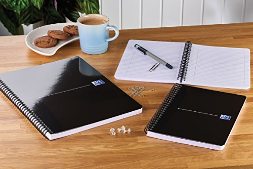 Oxford-Office-Smart-Wirebound-Soft-Cover-Notebook-A4-180-Pages-Black