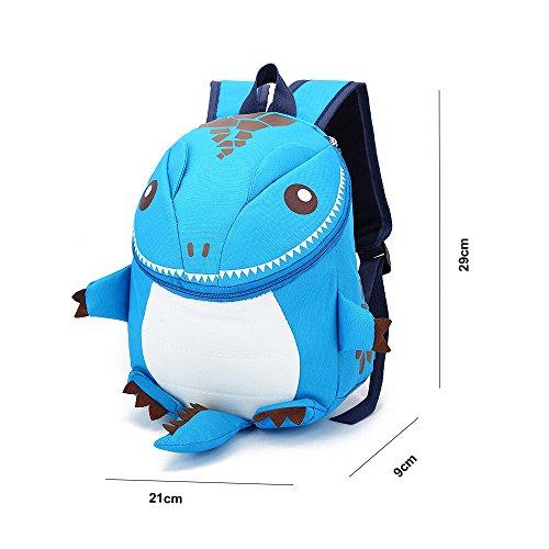 Imagen de dafenq  infantil 3d dinosaurio guardería bolsas pequeña bebé primaria bolsa para niños azul  alternativa