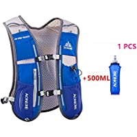 AONIJIE 5L Outdoor Sport Multifunctional Camping Backpack Cycling Running Climbing Hiking Vest Pack with 1 * 500ML Water Bottle