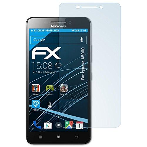 atFolix Schutzfolie kompatibel mit Lenovo A5000 Folie, ultraklare FX Displayschutzfolie (3X)