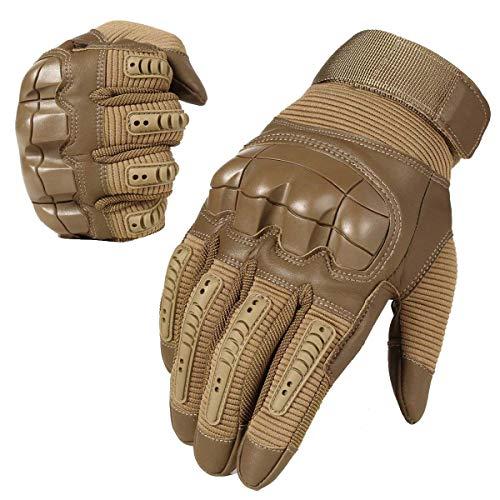 Neusky Herren Taktische Handschuhe Touchscreen Fahrrad Handschuhe Motorradhandschuhe MTB Handschuhe Mountainbike Handschuhe Outdoor Sport Handschuhe Ideal für Airsoft, Militär, Paintball (XL, Braun)