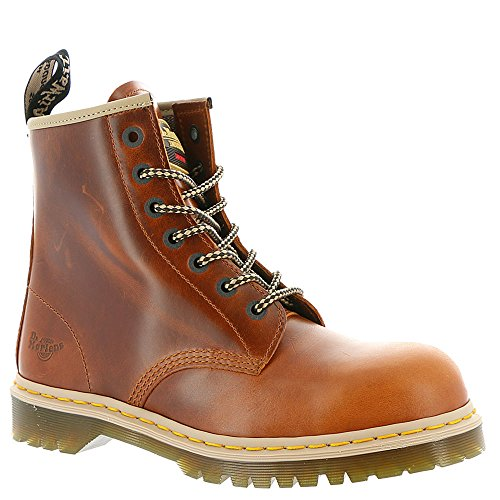 Dr. Martens Unisex Icon 7B10 Steel Toe 7 Eye Boots, Brown Leather, 8 M UK, M9/W10 M US (Ultra Force-tiger)