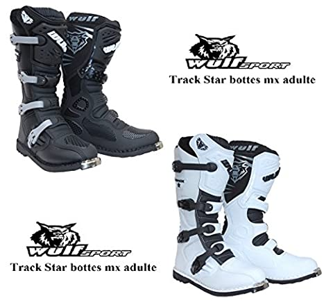 Costumes Blancs Chaussures - bottes moto adultes WULF TRACK STAR mx