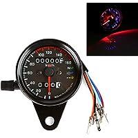 LTC® Universal 12 V Motocicleta 13000rmp Tacómetro tacómetro KM/H cuentakilómetros Odometer con LED Luz de fondo negro