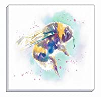 Artistic Animals Colourful Bumble Bee Evans Lichfield Canvas Wall Art Picture 40cm from Evans Lichfield
