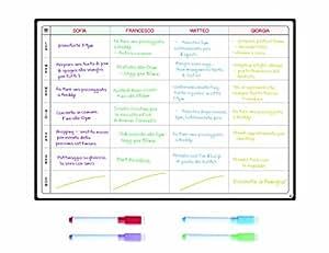 Lavagna Pianificazione Pasti e Agenda da SmartPanda - Grande Calendario Magnetico Ideale per Pianificare Studio, Esami, Faccende o Diete - La Lavagna Pianificatrice da Frigorifero Include 4 Pennarelli Cancellabili GRATIS - Settimanale
