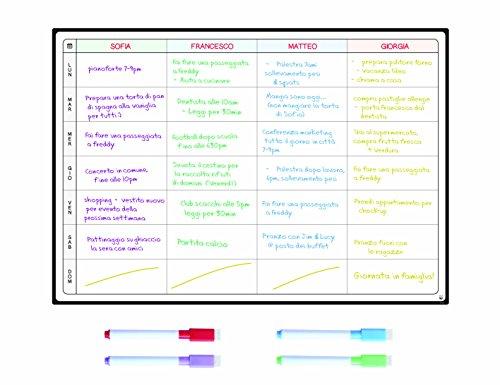 Lavagna Pianificazione Pasti e Agenda da SmartPanda - Grande Calendario Magnetico Ideale per Pianificare Studio, Esami, Faccende o Diete - La Lavagna Pianificatrice da Frigorifero - Settimanale