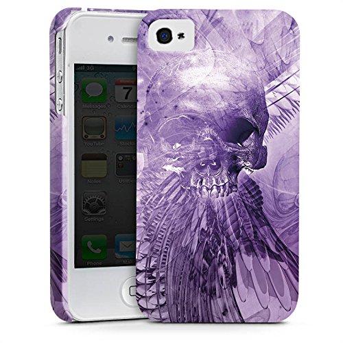 Apple iPhone X Silikon Hülle Case Schutzhülle Skull Totenkopf Lila Premium Case glänzend