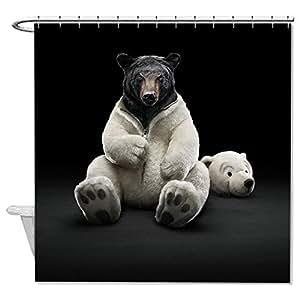 """Whiangfsoo orso divertente tenda doccia tessuto poliestere antiscivolo per bambini, Poliestere, #5, 60""""x72""""(150x180cm)"""