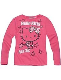 Hello Kitty Kollektion 2017 Langarmshirt 92 98 104 110 116 122 128 Mädchen Neu Fuchsia