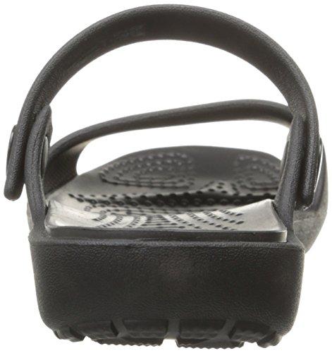 Crocs Crocs Coretta Sandal, Sandales Bout ouvert femme Noir (Black/Black)