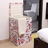 #7: Kurtzy Foldable Laundry Basket Bin Organizer Container For Dirty Clothes Storage Kitchen Bedroom Bathroom Large Size 60Ltrs