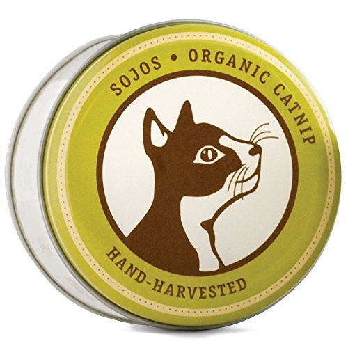 SOJOS ORGANIC CATNIP with Gift Tin Cat Treat or Refill Catnip Toys - 28.4 g
