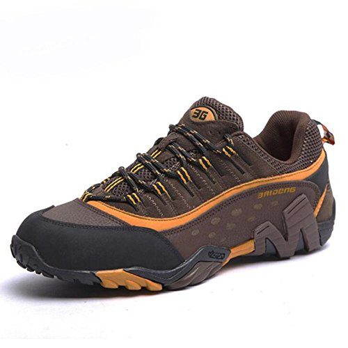 Suetar Fashion Leather Hiking Shoes Hombre / Mujer Outdoor Hiking Shoes Impermeable Antideslizante Otoñal Hombre Marrón