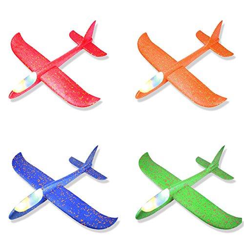 XuBa Wurfgleiter, Schaumstoff, 49 x 48 cm, für Flugzeuge, Flugzeuge, Mini-Flugzeug, zufällige Farbe, Geburtstag, Halloween, Weihnachten, Party-Geschenk