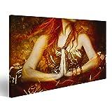 islandburner Cuadro Cuadros Mujer en posición de Yoga Foto compuesta Cerca de Las Manos en Gesto Namaste Impresión sobre Lienzo - Formato Grande - Cuadros Modernos HHV