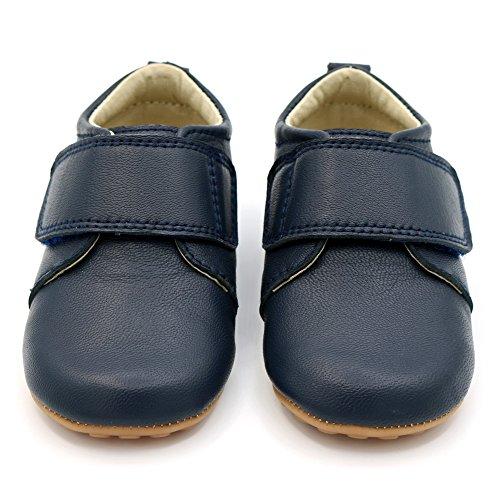 Bild von Shimmy Shoes Klassische marinefarbene Schuhe für Besondere Anlässe für Babys und Kleinkinder Kinderschuhe aus hochwertigem marinefarbenem Leder (EU Größen 19 – 23)