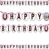 Partykette * WEISSES PFERD * für Kindergeburtstage oder Motto-Partys // Geburtstag Party Papiergirlande weiß und rosa Schimmel