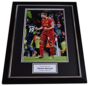 Sportagraphs Steven Gerrard Signed FRAMED Photo Autograph 16x12 display Liverpool Football PERFECT GIFT from Sportagraphs
