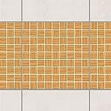 Fliesen Bordüre - Mosaikfliesen Holzoptik Weißtanne 10cm x 10cm, Setgröße:20teilig