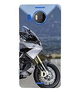 Futuristic bike 3D Hard Polycarbonate Designer Back Case Cover for Nokia Lumia 950 XL :: Microsoft Lumia 950 XL