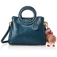 Zeneve London Womens Satchel Bag, Blue - 1191832031