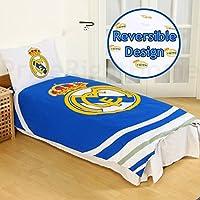Funda de edredón reversible individual y funda de almohada del Real Madrid FC