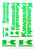 Aufkleber Sticker Set - Kawasaki - Grün - 10 Stück