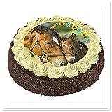 CS-Dekor Tortenaufleger Pferde 026