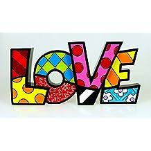 ROMERO BRITTO Word Art - LOVE - Pop Art Kunst aus Miami #331483