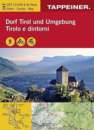 Wanderkarte Dorf Tirol und Umgebung: Cartina escursionistica Tirolo e dintorni (Kombinierte Sommer-Wanderkarten Südtirol)