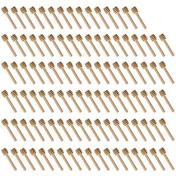 50pcs b/âtons en bois de plongeur de miel 15cm // 5.9inch remuant le b/âton serveur pour le pot de miel arrosent le miel