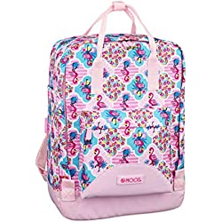 Moos Flamingo Pink Oficial Mochila Con Asas, 270x130x380mm