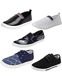 Bersache Men Combo Pack of 5 Casual Shoes
