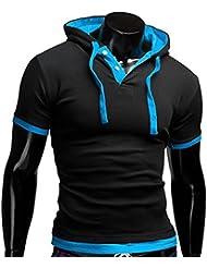 Tefamore Hommes T-shirt à manches courtes pour