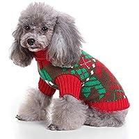 LongYu Suéter para Mascotas, Engrosamiento de Punto de Mascotas Ropa para Perros pequeños Cálido Chaleco Protector de Pecho Cuello Alto Chaleco de Abrigo clásico Ropa Chaleco 5 Talla