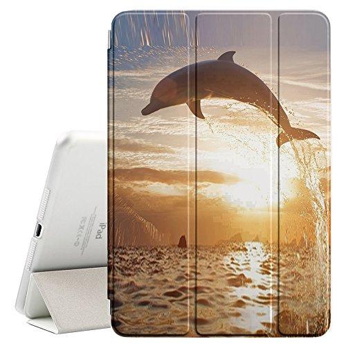 YOYOcovers [ FOR iPad Mini 2 / 3 / 4 ] Smart Cover con funzione del basamento di sonno - Dolphin So Long Sunset Ocean Animal