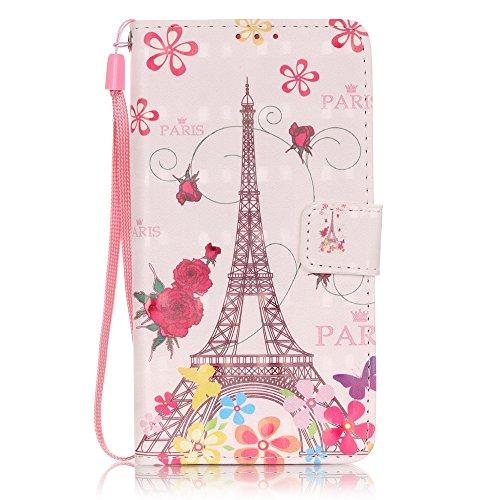 Meet de (Campanula) Colorful 3D Design Folio Case pour Apple iphone 6 Plus / iphone 6S Plus ,Wallet flip étui en cuir / Pouch / Case / Holster / Wallet / Case pour Apple iphone 6 Plus / iphone 6S Plus Rose Tower