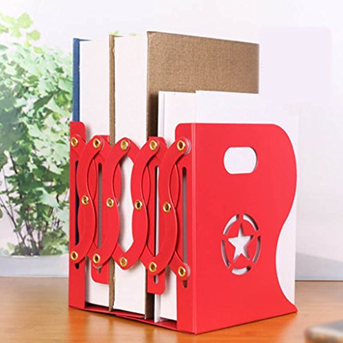 Soporte de libro de metal retro creativo 9 * 15 * 11,5 Cm Rojo ajustable ( Color : Rojo )