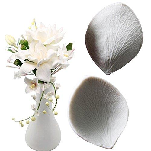2 PCS Gardenia Petals Silikon Kuchen Form, Seife Schimmel, Fondant Kuchen dekorieren Tools, Schokolade, Maker, Antihaft-DIY Craft Dekoration Fondant Candy Gebäck desset macht Werkzeug, Backgeschirr -