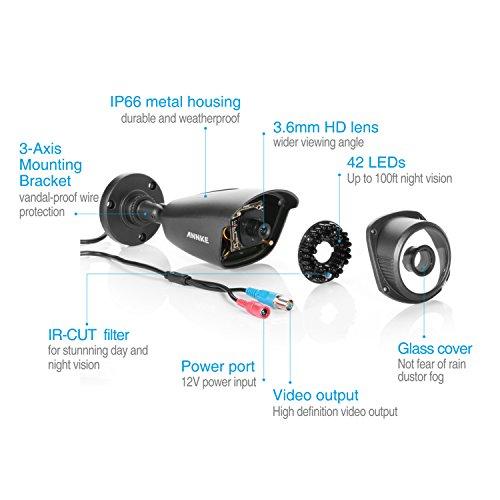 ANNKE 1080N Kit di videosorveglianza a 8 canali,Tre modalita' di Video output DVR/HVR/ NVR,con 8*960P(1280*960)Videocamera,l'Accesso remoto,con 1TB HD Incluso!