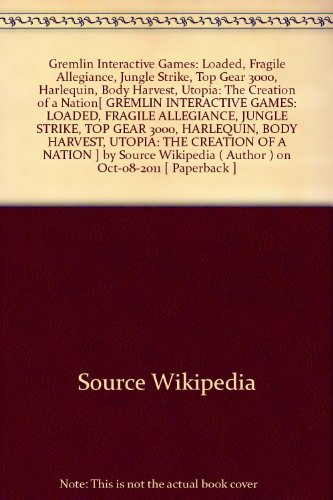 {GREMLIN INTERACTIVE GAMES: LOADED, FRAGILE ALLEGIANCE, JUNGLE STRIKE, TOP GEAR 3000, HARLEQUIN, BODY HARVEST, UTOPIA: THE CREATION OF A NATION BY SOURCE WIKIPEDIA} - Top Gear 3000