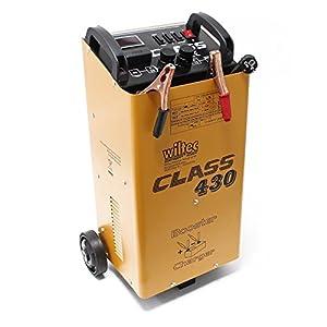 WilTec Boost 430 dispositivo de carga para baterías 12V 24V Cargador de baterías Ayuda al arranque
