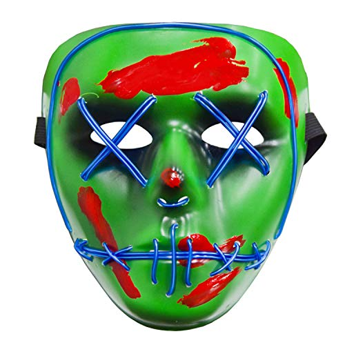 Halloween Maske Cosplay Fasching LED Maske Green
