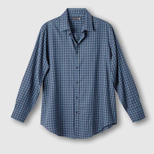 Castaluna For Men Uomo Camicia A Quadri Blu/Antracite